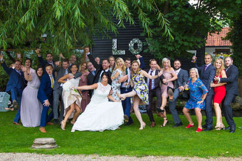 Bride & Groom with their friends