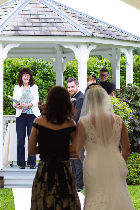 First look at the bride as she walks down the aisle