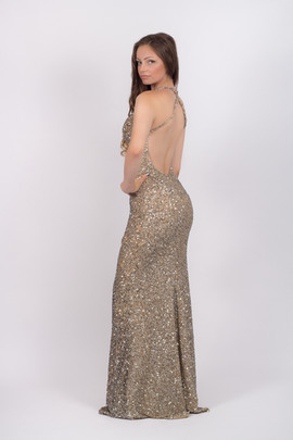 Prom N Party, open back evening dress