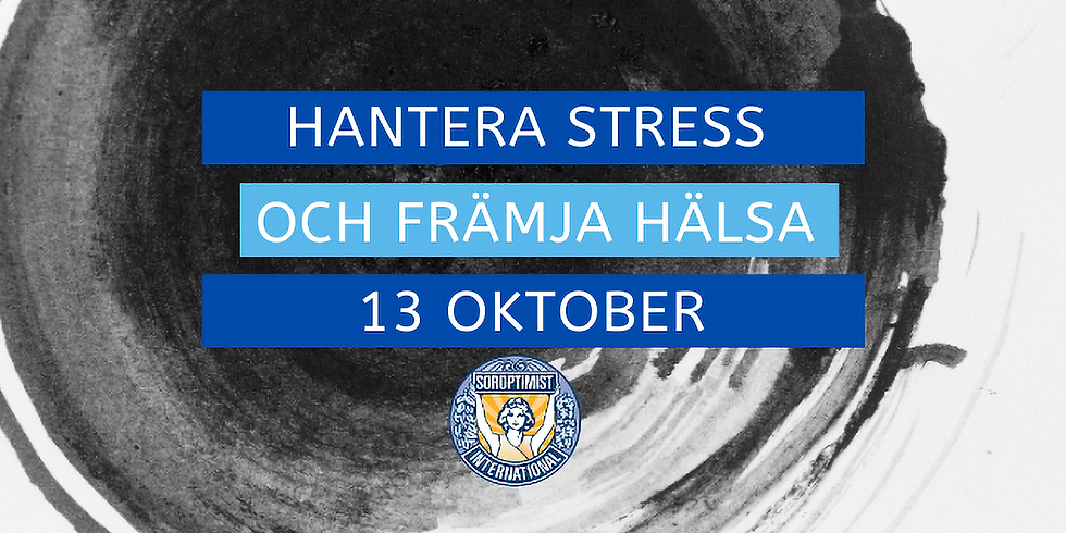 INSTÄLLT - Hantera stress och främja hälsa