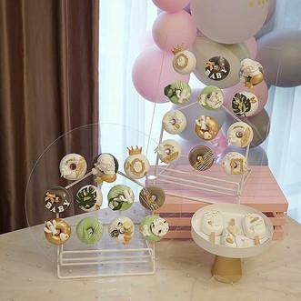 Acrylic-Donuts-Display-Racks-11-12pcs-Doughnuts-Holder-for-Kids-Birthday-Christmas-Wedding