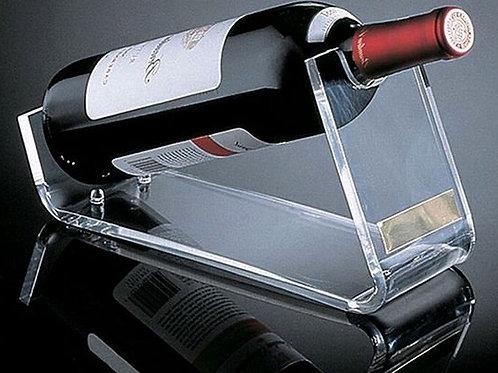מעמד מעוצב לבקבוק יין מזכוכית אקרילית מהמם ביופיו