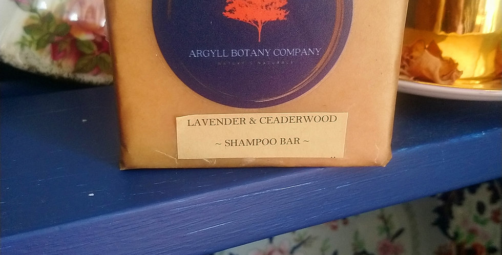 Lavender & Ceaderwood shampoo bar