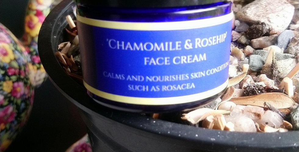 Chamomile & rosehip face cream