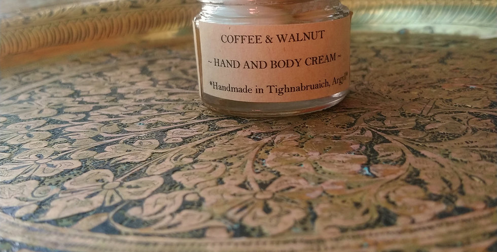 Mini coffee and Walnut body butter