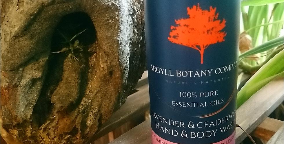 Lavender &  Ceaderwood hand & body wash