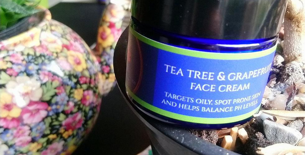 Tea tree& Grapessed face cream