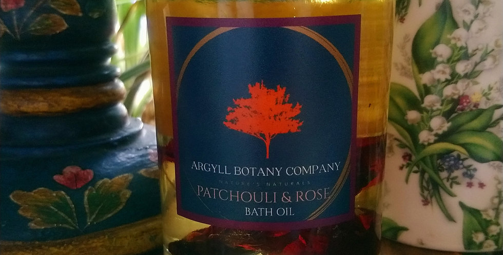 Patchouli & Rose Bath Oil