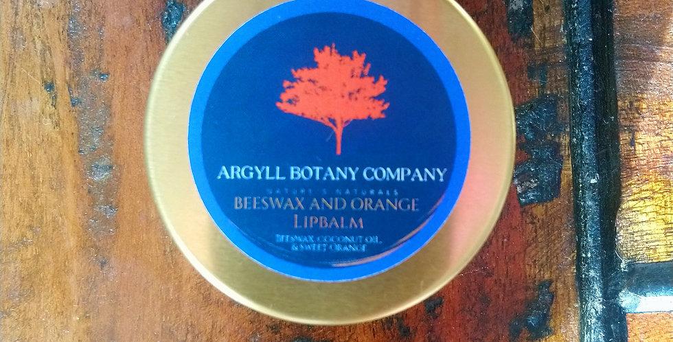 Besswax and sweet orange lipbalm