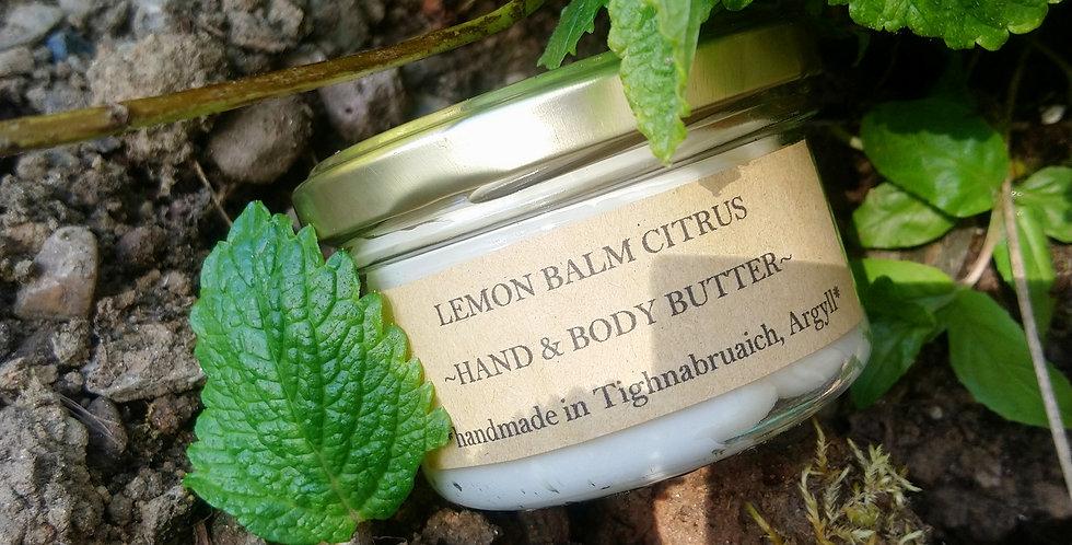 Lemonbalm citrus hand& body butter