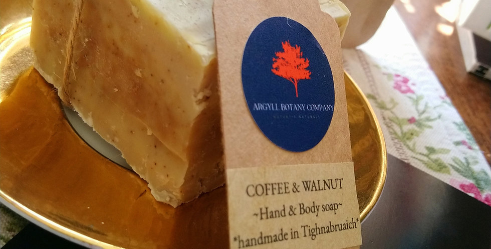 Coffee and Walnut soap