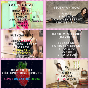 How to diet like Kpop Girl Groups - Extreme diet plan