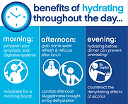 Benefis of Hydration Throughout the Day