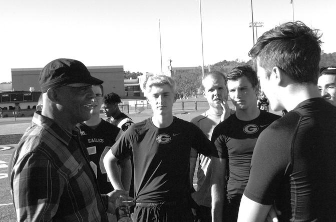 Former NFL stars visit Greenwood HS