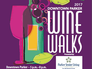 Check it out….August 25 - Downtown Parker Wine Walks take place May through October.  Enjoy wine sam