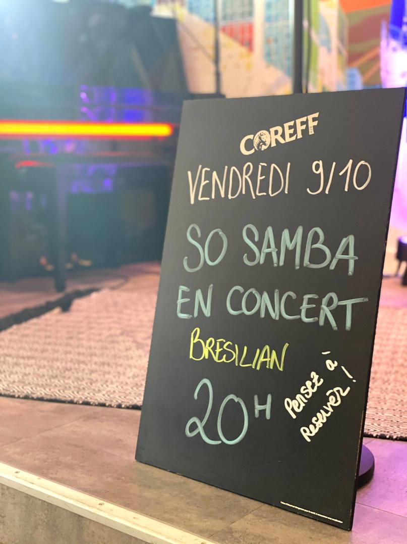 Le groupe So Samba est programmé en concert à la Raskette