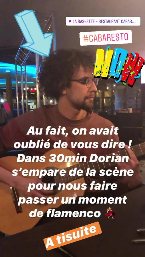 Dorian Gousset fait une jam session sur la scène de la Raskette
