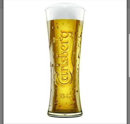Carlsberg Tall Pint Beer Glass - 20oz - 570ml