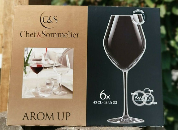 Chef & Sommelier Arom Up Wine Glasses Glass Clear 43cl 14 1/2 oz Pack of 6