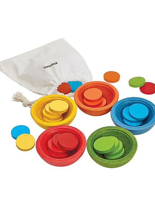 Plan Toys - Ciotoline per contare, organizzare e travasare