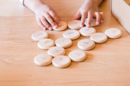 Grapat - Monete in legno per contare