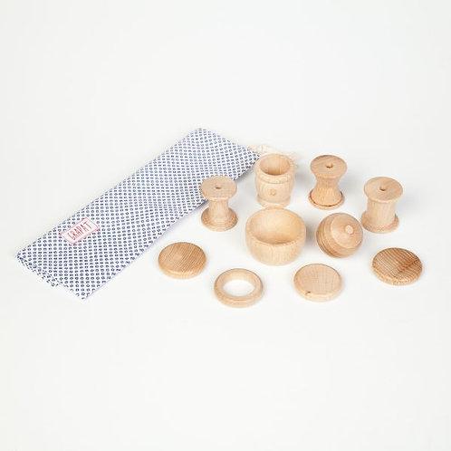 Grapat - Cestino dei tesori 10 elementi in legno