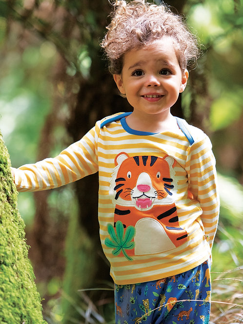 Frugi - Bobby Applique top - Tigre