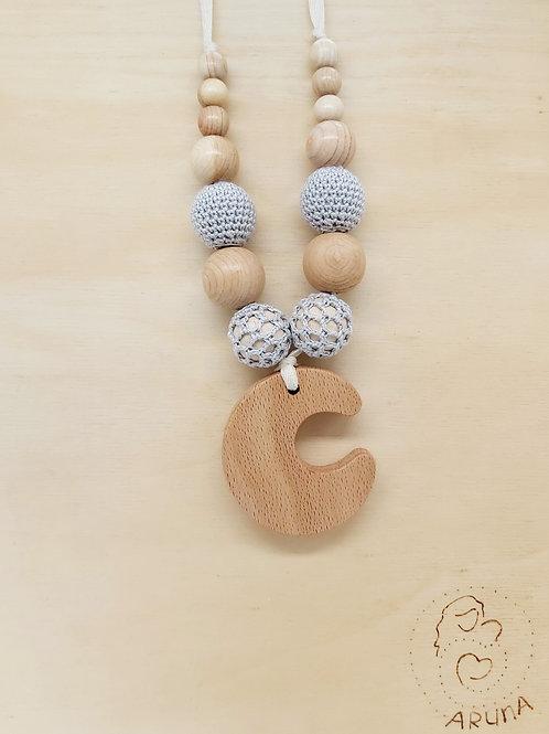 Aruna Mom&Baby - Collana da dentizione con ciondolo e crochet