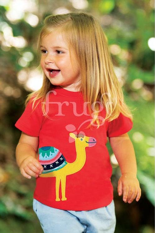 Frugi - Little Creature Applique top - Cammello