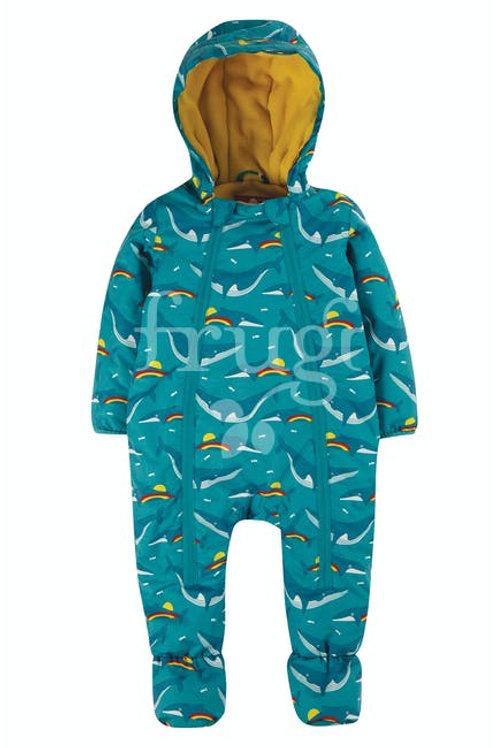 "Frugi - Explorer waterproof ""All in One suit"" whales"