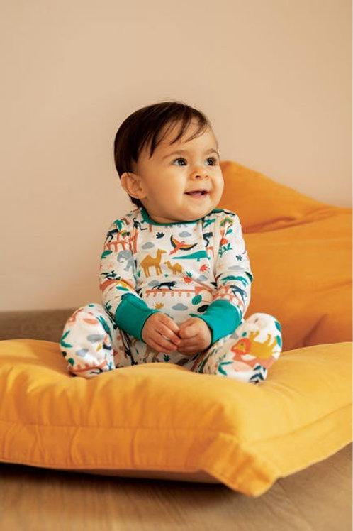 Frugi -  Zip Up Babygrow