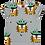 Thumbnail: Raspberry Republic - T-Shirt in cotone biologico maniche corte - Gatti