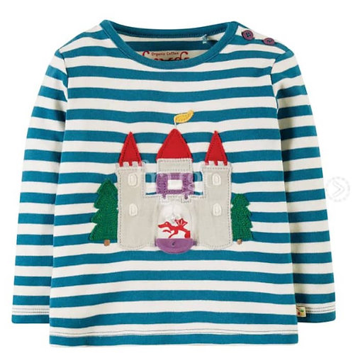 "Frugi - Interactive Applique Toploch ""Castle"""