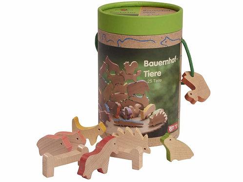 Gluckskafer -  Zoo degli animali in legno da impilare