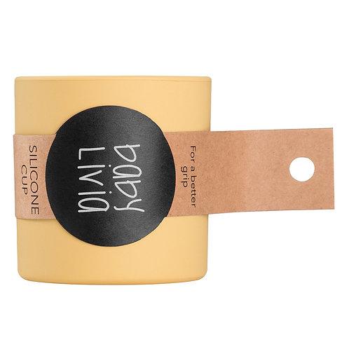 BabyLivia - Bicchiere in silicone giallo senape