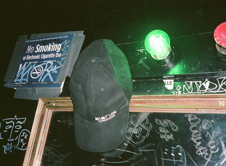 A Night Out With Counterfeit Helmut Lang Hat
