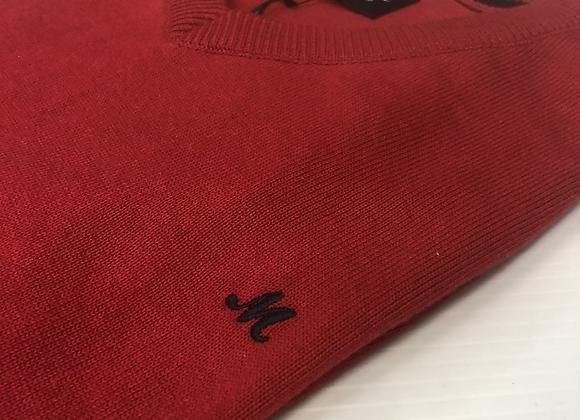 Mineral v neck sweatshirt in red
