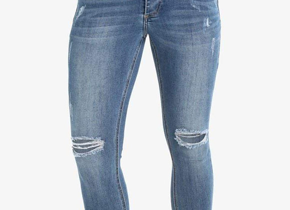 LUMOR SKINNY DISTRESSED LIGHT WASH