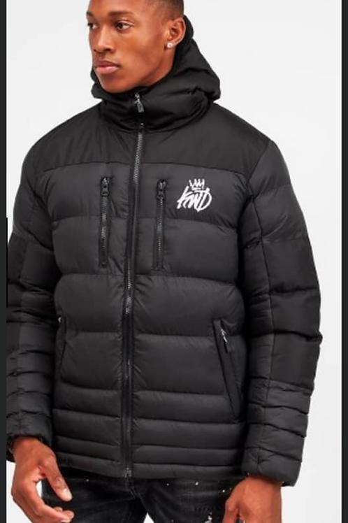 KINGS WILL DREAM boden puffer jacket in Black