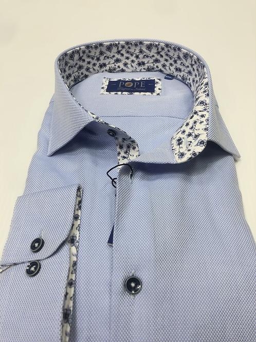 Oxford Blue Pope Shirt