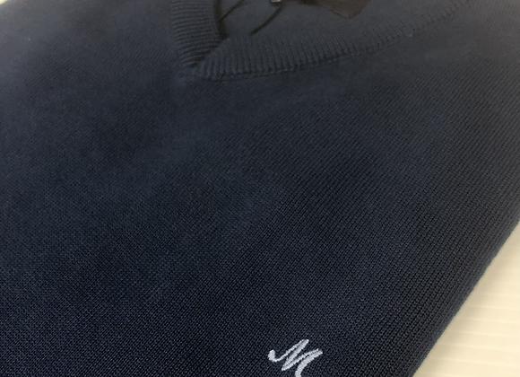 Mineral v neck sweatshirt in dark blue