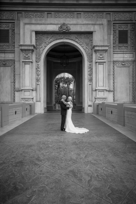 black and white photo, closeup of couple