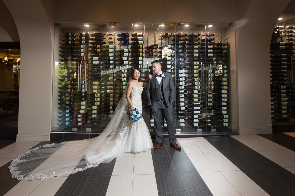 bride and groom, dramatic light, wedding