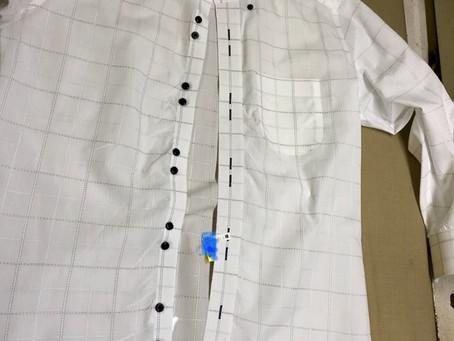 形状記憶シャツの縮み