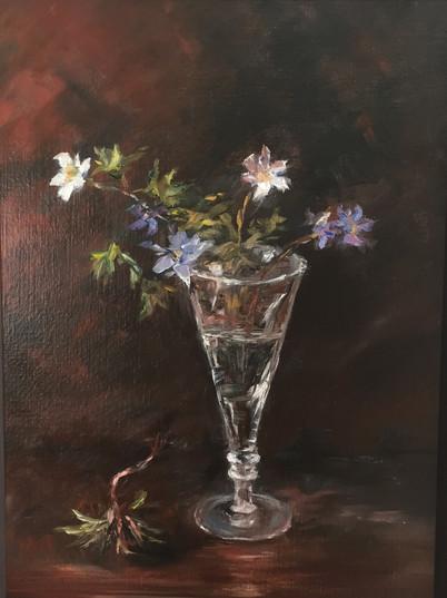 Studie av blomst i vase. Solgt