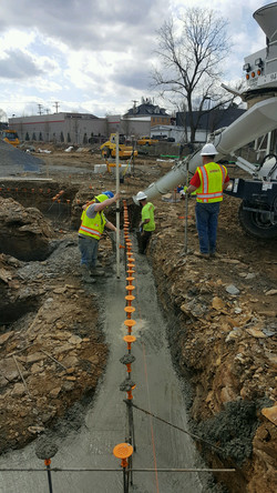 Pouring footer