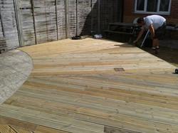 residential garden decking