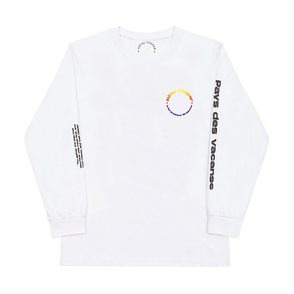 'Créol Brothers' white l/s tee