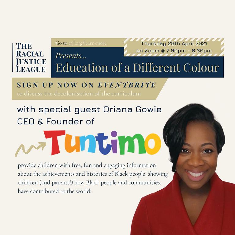 TRJL Social Action Forum - Education of a Different Colour