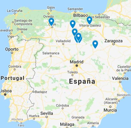 Mapa Casas Terminadas. Sistemas DIY